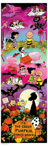"""IT'S THE GREAT PUMPKIN, CHARLIE BROWN"" SHAUNNA PETERSON VARIANT 12"" X 36"" EDITON OF 50 $85"