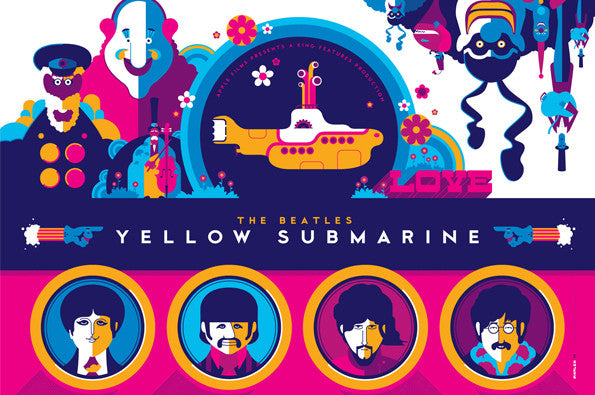 Beatles Yellow Submarine Art Print Folio - Variant Edition
