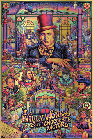 """WILLY WONKA & THE CHOCOLATE FACTORY"" ISE ANANPHADA ""GOLDEN TICKET"" FOIL-VARIANT EDITION OF 10 $125"