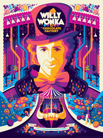 "TOM WHALEN ""WILLY WONKA & THE CHOCOLATE FACTORY"" VARIANT Edition of 70"
