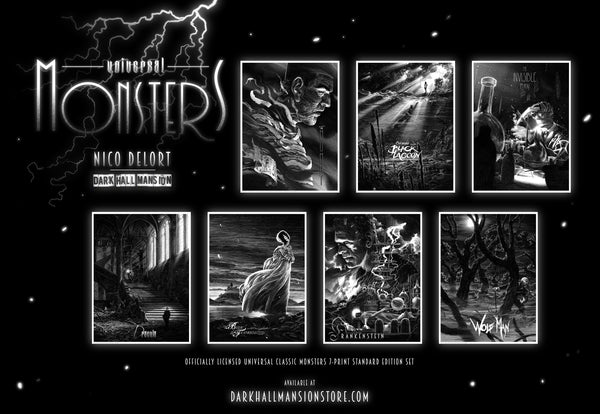 """Universal Classic Monsters"" 7-print Select Wood Standard edition"