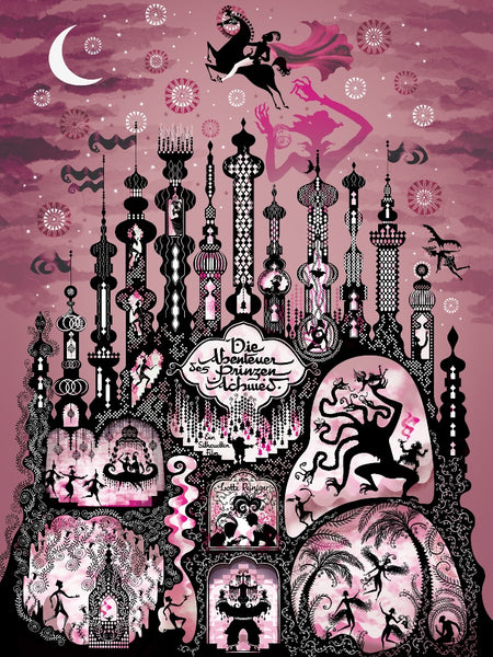"""THE ADVENTURES OF PRINCE ACHMED"" ARTIST: LESLEY BARNES 2-PRINT SET OF BOTH PRINTS (IN 9X12 FORMAT)  EDITION OF 75 $55"