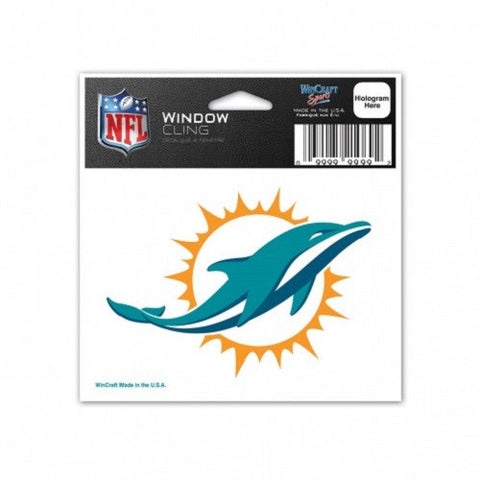 "Miami Dolphins Static Cling Decal 3"" x 3"" - Hawkins Footwear and Sports"