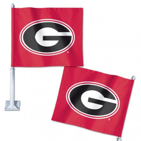 "University Of Georgia  Car Flag 11.75"" X 14"" - Hawkins Footwear and Sports  - 1"