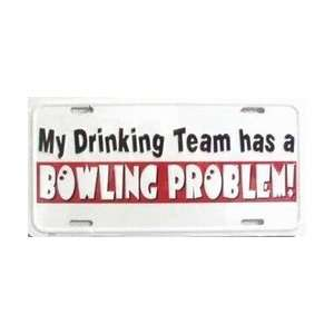 Bowling Problem License Plate