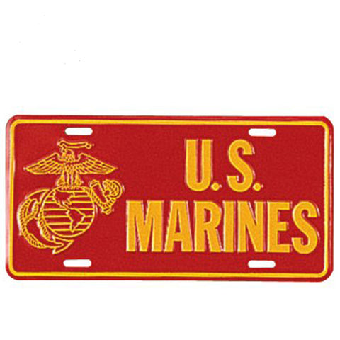 US Marines License Plate - Hawkins Footwear and Sports