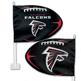 Atlanta Falcons Shaped Car Flag - Hawkins Footwear and Sports  - 1