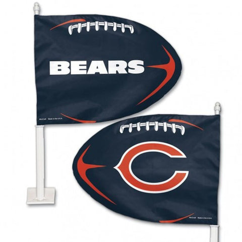 Chicago Bears Shaped Car Flag - Hawkins Footwear and Sports  - 1