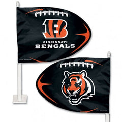 Cincinnati Bengals Shaped Car Flag - Hawkins Footwear and Sports  - 1
