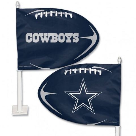 Dallas Cowboys Shaped Car Flag - Hawkins Footwear and Sports  - 1