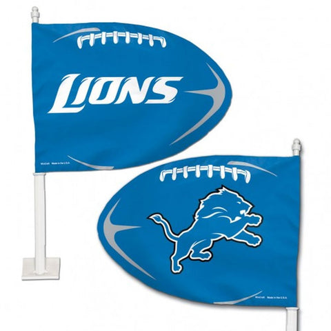 Detroit Lions Shaped Car Flag - Hawkins Footwear and Sports  - 1
