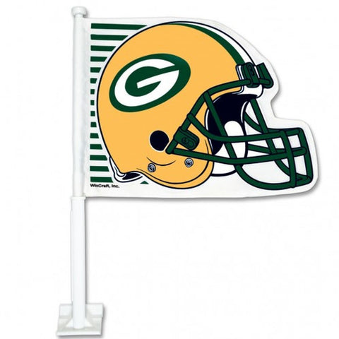 Green Bay Helmet Car Flag