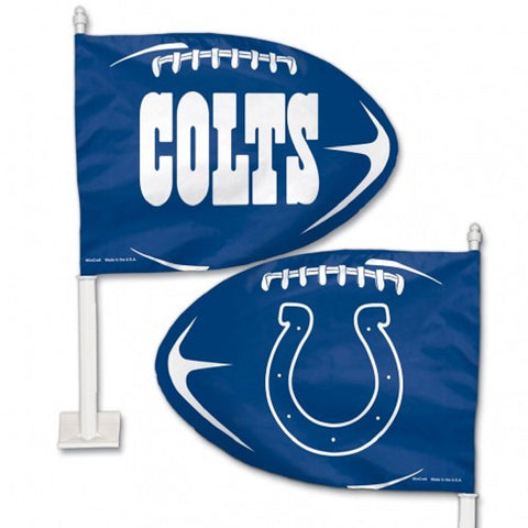 Indianapolis Colts Shaped Car Flag - Hawkins Footwear and Sports  - 1