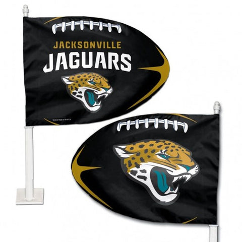 Jacksonville Jaguars Shaped Car Flag - Hawkins Footwear and Sports  - 1