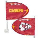 Kansas City Chiefs Shaped Car Flag - Hawkins Footwear and Sports  - 1