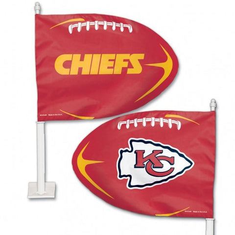 Kansas City Chiefs Shaped Car Flag