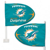 Miami Dolphins Shaped Car Flag - Hawkins Footwear and Sports  - 1