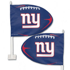New York Giants Shaped Car Flag - Hawkins Footwear and Sports  - 1