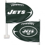 New York Jets Shaped Car Flag - Hawkins Footwear and Sports  - 1