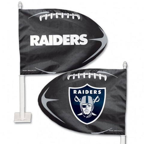 Oakland Raiders Shaped Car Flag - Hawkins Footwear and Sports  - 1