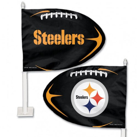 Pittsburgh Steelers Shaped Car Flag - Hawkins Footwear and Sports  - 1