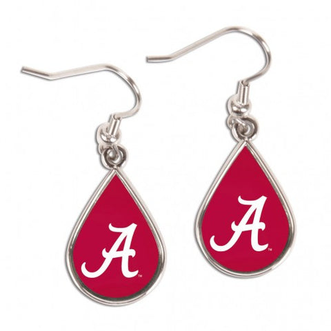 Alabama Crimson Tide Tear Drop NCAA Dangle Earrings