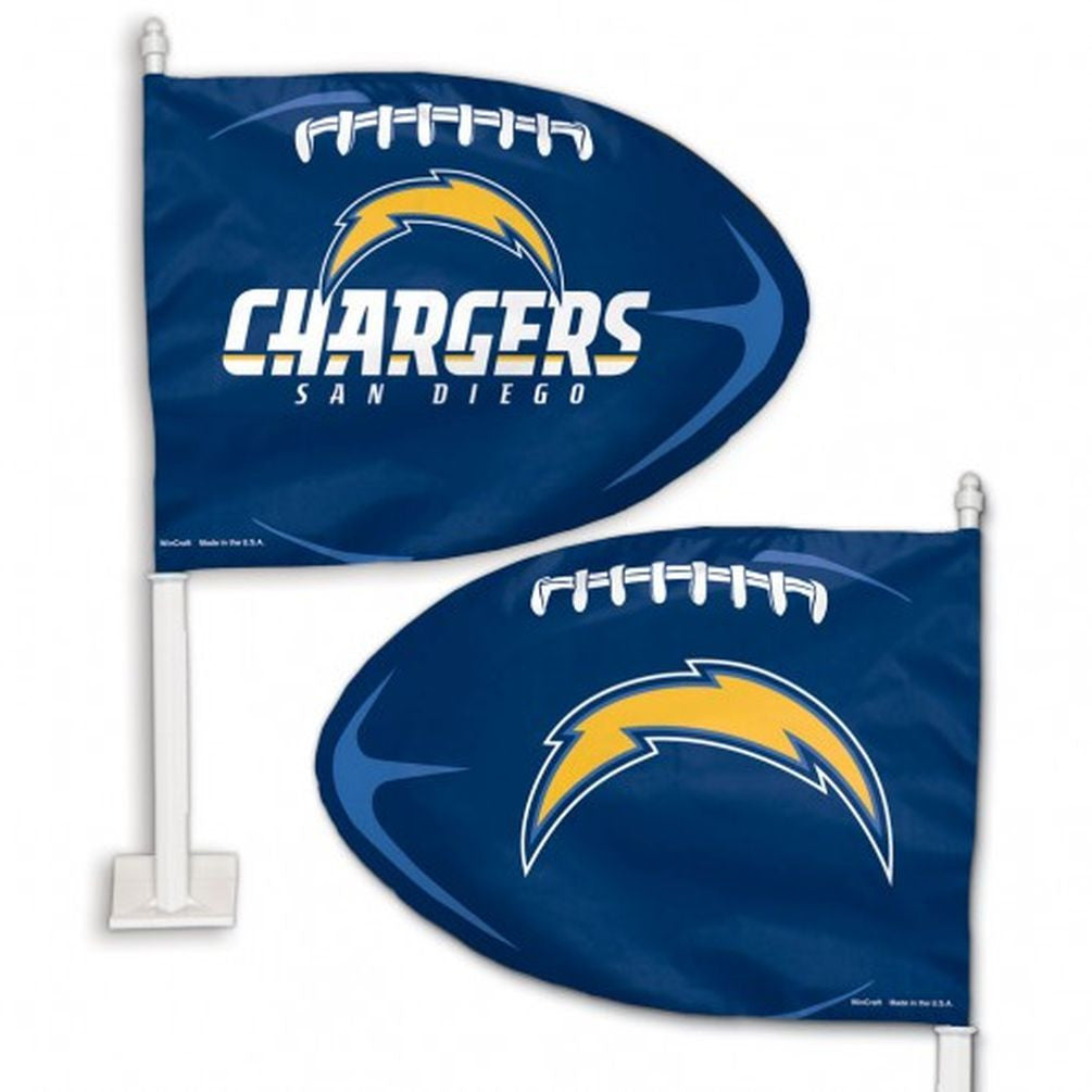 San Diego Chargers Shaped Car Flag - Hawkins Footwear and Sports  - 1