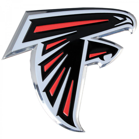 Atlanta Falcons Colored Aluminum Car Auto Emblem