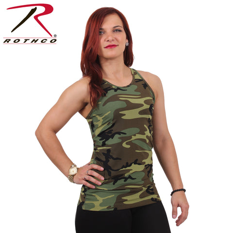 Rothco Womens Camo Workout Performance Tank Top - Hawkins Footwear and Sports  - 1