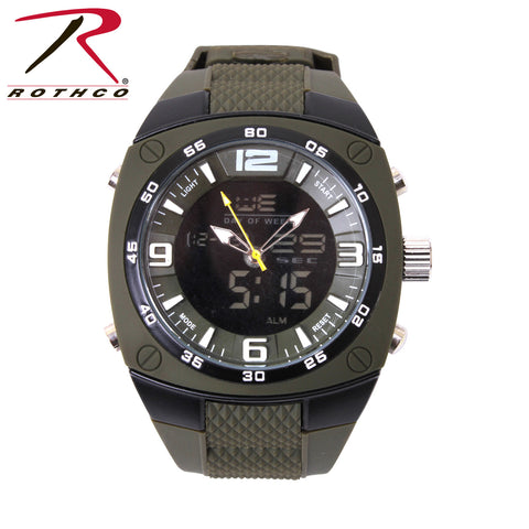 Rothco XLarge Military Style Analog & Digital Display Watch - Hawkins Footwear and Sports  - 1