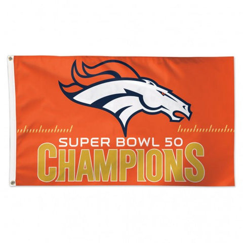 Denver Broncos Super Bowl Champs Flag - Team 3' X 5' - Hawkins Footwear and Sports  - 1