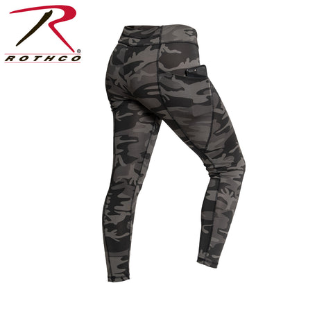 Rothco Womens Camo Performance Leggings w/Pocket