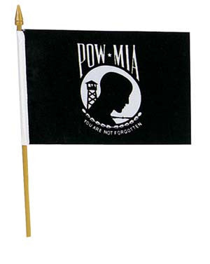 "4"" x 6"" POW Stick flag"