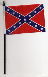 "4"" x 6"" Confederate Stick flag - Hawkins Footwear and Sports"