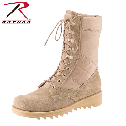Rothco G.I. Type Ripple Sole Desert Tan Jungle Boots (also in Wide)
