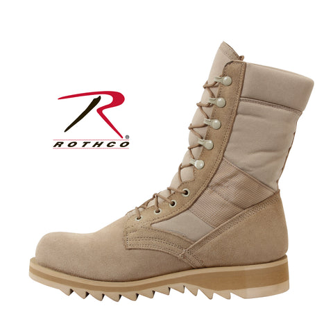 Rothco G.I. Type Ripple Sole Desert Tan Jungle Boots (also in Wide) - Hawkins Footwear and Sports  - 1