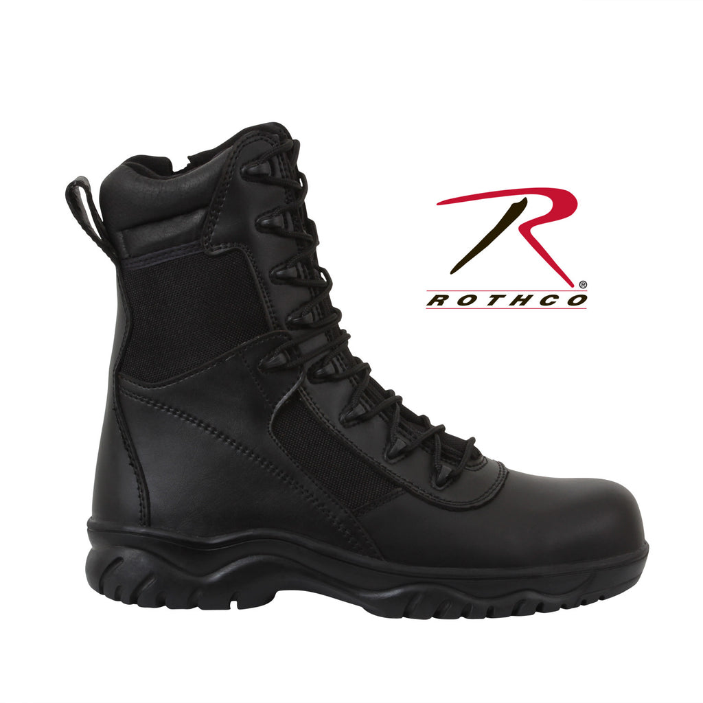 Rothco 8 Inch Forced Entry Tactical Boot With Side Zipper & Composite Toe - Hawkins Footwear and Sports  - 1
