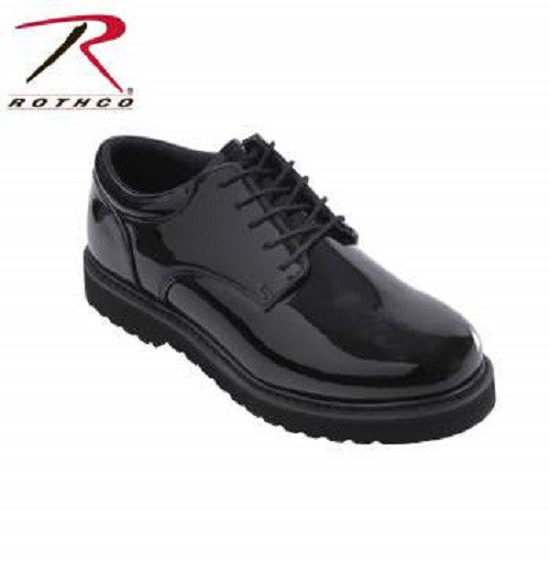 Rothco Uniform Oxford Work Sole Mirror Black Finish 5250 - Hawkins Footwear and Sports  - 1