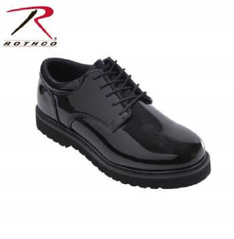 Rothco Uniform Oxford Work Sole Mirror Black Finish 5250