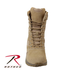 "Rothco Forced Entry Desert Tan 8"" Deployment Boots with Side Zipper - Hawkins Footwear and Sports  - 3"