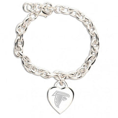 Atlanta Falcons Heart Charm Bracelet - Hawkins Footwear and Sports  - 1