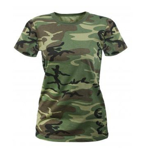Rothco Womens Long Length Camo T-Shirt (5 Colors) - Hawkins Footwear and Sports  - 3