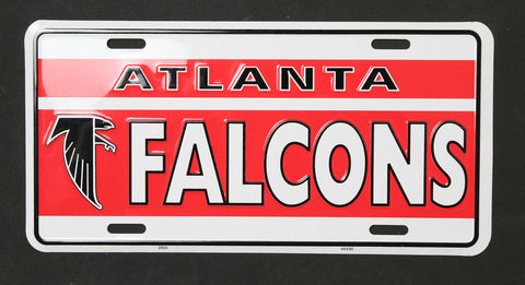 Atlanta Falcons Old School Metal License Plate - Hawkins Footwear and Sports