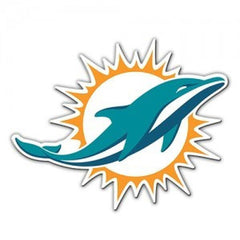 "Miami Dolphins 12"" Sunburst Magnet - Hawkins Footwear and Sports  - 1"