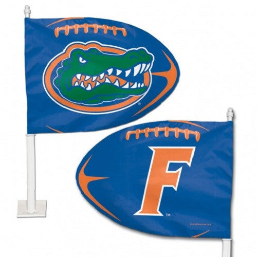 University of Florida Shaped Car Flag - Hawkins Footwear and Sports  - 1