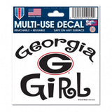 "Georgia, University of -Girl Multi-Use Decal 3"" x 4"" - Hawkins Footwear and Sports  - 1"