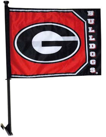 Set of 2 Georgia Bulldogs 20x14 Car Flag - Hawkins Footwear and Sports  - 1