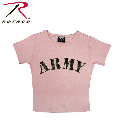 Rothco Girls Pink Army T-Shirt - Hawkins Footwear and Sports
