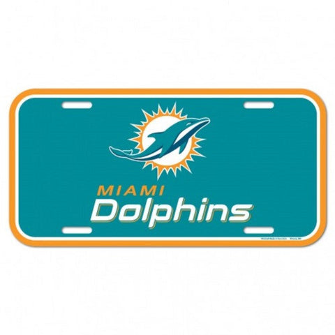 Miami Dolphins License Plate Plastic - Hawkins Footwear and Sports