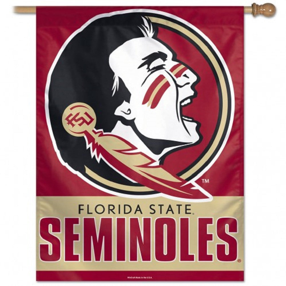 "Florida State University  Vertical Flag 27"" x 37"" - Hawkins Footwear and Sports"